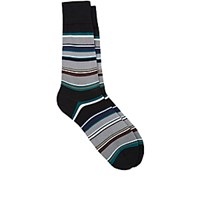 Paul Smith Men's Val Striped Mid Calf Socks Black No Color Black No Color
