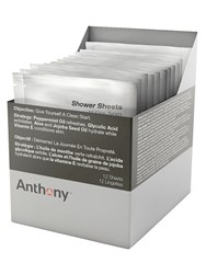 Anthony Logistics For Men Shower Sheets Cleansing Wipes Transparent