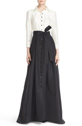 Women's Carolina Herrera Silk Taffeta Trench Gown
