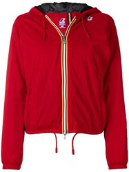 K Way Lily Micro Ripstop Jacket Red