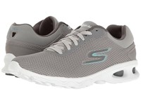 Skechers Go Walk Zip Gray Blue Women's Shoes