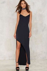 After Party By Nasty Gal In The Evening Satin Slip Dress Blue