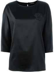 Versace Three Quarter Length Sleeve Top Black