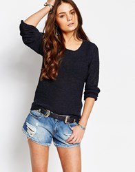 Only Geena Knit Sweater Navy