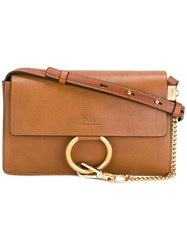 Chloe Small Faye Crossbody Bag Brown