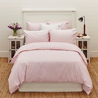 Lexington Pinpoint Duvet Cover Pink White Double