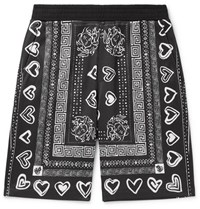 Versace Printed Tech Jersey Shorts Black