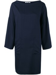 Barena Patch Pocket Shift Dress Blue