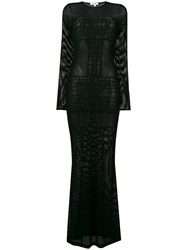 Parah Mesh Panel Beach Dress Black