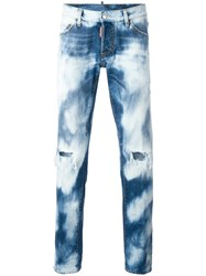 Dsquared2 Slim Bleached Distressed Jeans Blue