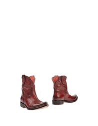 Primabase Ankle Boots Brick Red