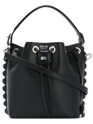 Salar Studded Bucket Tote Black