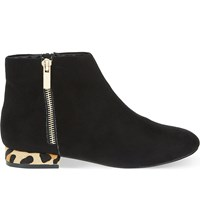 Miss Kg Soho Suedette Ankle Boots Black