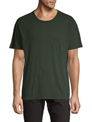 7 For All Mankind Short Sleeve Cotton Tee Dark Army