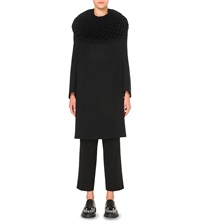 Junya Watanabe Diamond Concertina Wool Dress Blk