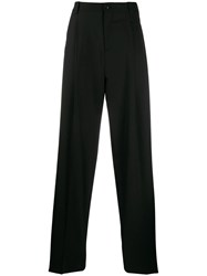 Versace Wide Leg Tailored Trousers Black