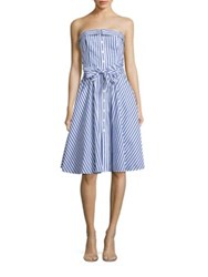 Polo Ralph Lauren Bengal Striped Convertible Cotton Dress White Regatta