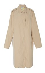 Tomas Maier Long Sleeve Midi Length Coat Neutral