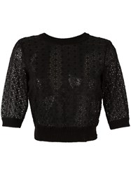 Red Valentino Embroidered Blouse Black