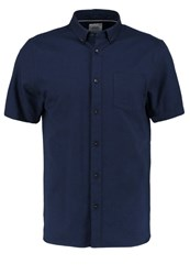 Burton Menswear London Shirt Navy Dark Blue