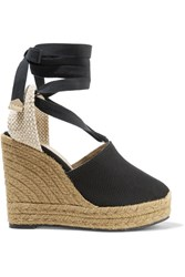 Castaner Nerea Canvas Wedge Espadrilles Black