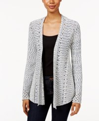 Styleandco. Style Co. Petite Open Knit Cardigan Only At Macy's Indigo Blue Combo