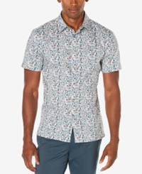 Perry Ellis Men's Big And Tall Painted Floral Shirt A Macy's Exclusive Style Quarry