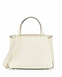 Valextra Triennale Small Leather Tote Bag White