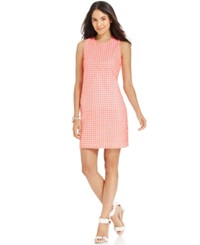 Spense Petite Eyelet Crochet Back Shift Dress
