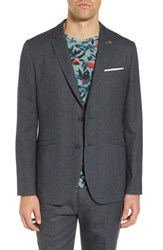 Ted Baker London Beek Trim Fit Sport Coat Charcoal