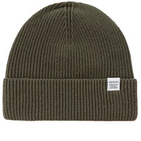 Norse Projects Cotton Watch Beanie Green