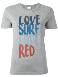 Red Valentino Love Surf T Shirt Grey