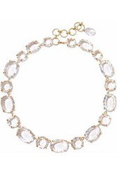 Bounkit Gold Tone Quartz Necklace Gold