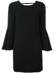 Elizabeth And James Flared Sleeves Short Dress Black
