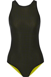 Ward Whillas Palmer Reversible Swimsuit Chartreuse