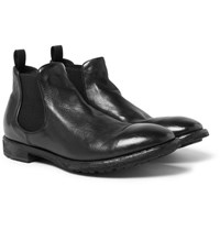 Officine Creative Princeton Leather Chelsea Boots Black
