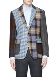 Wooster Lardini Harris Tweed Patchwork Blazer Multi Colour