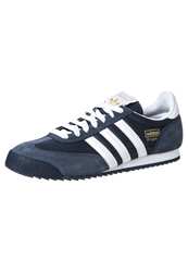 Adidas Originals Dragon Trainers New Navy White Metallic Gold Blue