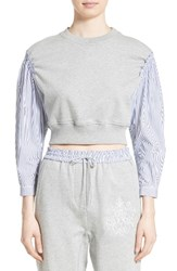 3.1 Phillip Lim Women's French Terry Combo Top