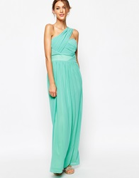 Tfnc Maxi Dress With One Shoulder Detail Aqua