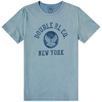 Rrl Military Graphic Tee Blue