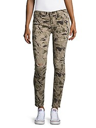 True Religion Camo Print Distressed Jeans Garden Camo