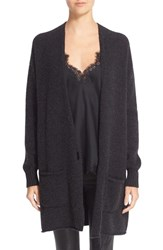 Helmut Lang Women's Long Wool And Cashmere Cardigan