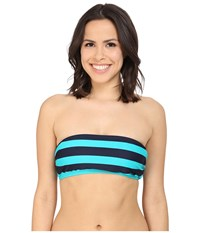 Dkny Iconic Stripe Bandeau Bra W Removable Soft Cups Currant Women's Swimwear Red