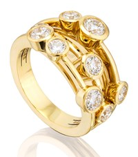 Boodles Classic Raindance Yellow Gold Ring