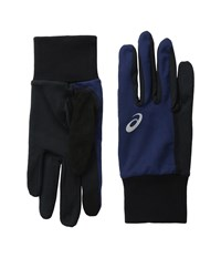 Asics Thermal Run Glove Indigo Blue Black Extreme Cold Weather Gloves