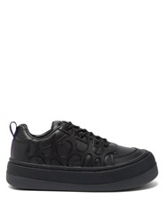 Eytys Sonic Exaggerated Sole Leather Trainers Black