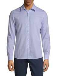 Hyden Yoo Classic Slim Fit Cotton Button Down Shirt Blue