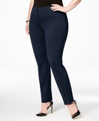 Alfani Plus Size Comfort Waist Skinny Pants Only At Macy's Modern Navy