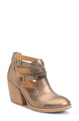 Kork Easer Women's Ease 'Stina' Leather Bootie Bronze Metallic Leather